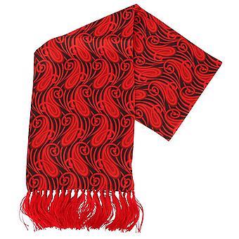 Knightsbridge kaulavaatteita Paisley Aviator silkkihuivi - punainen