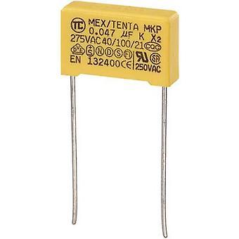TRU مكونات MKP-X2 1 PC(ق) MKP-X2 قمع مكثف الرصاص شعاعي 0.047 μF 275 V AC 10 % 15 مم (L x العرض × ح) 18 × 5 × 11 مم
