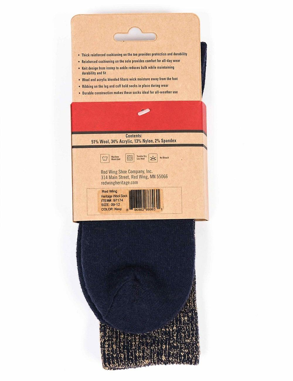 Red Wing 97174 Deep Toe Capped Wool Sock - Navy