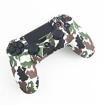 Playstation 4 / PS4 Silikona powłoka Kamuflaż Biało-Zielony