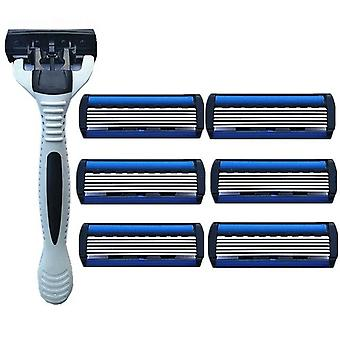 Razor with 6 separate interchangeable head for men