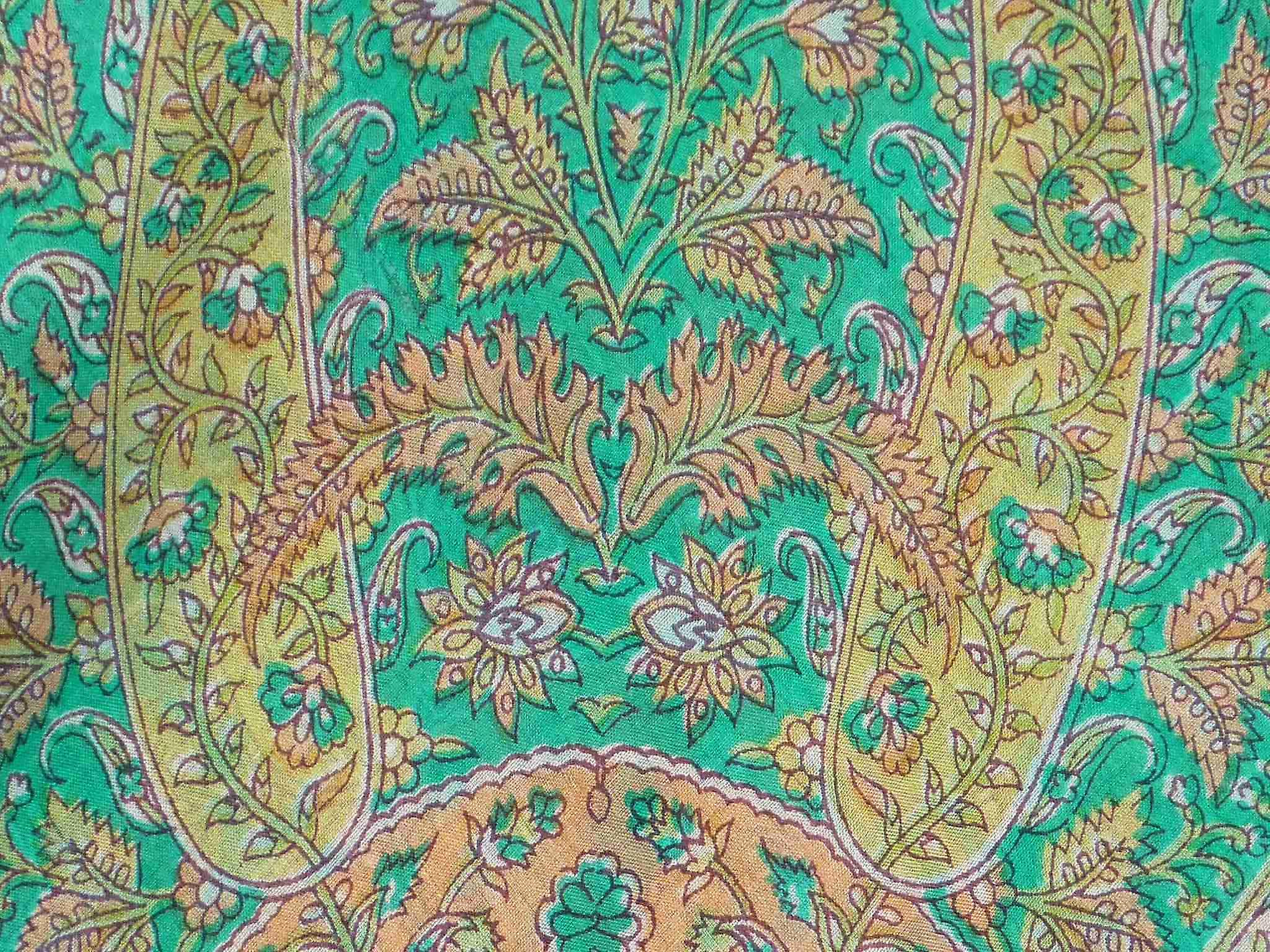 Mulberry Silk Traditional Square Scarf Kiara Teal by Pashmina & Silk