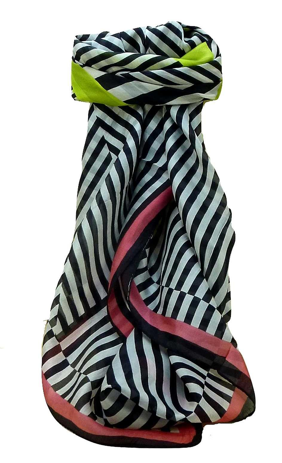 Mulberry Silk Contemporary Square Scarf Betwar Multicolor by Pashmina & Silk