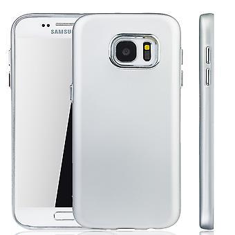 Samsung Galaxy S7 Hülle - Handyhülle für Samsung Galaxy S7 - Handy Case in Silber