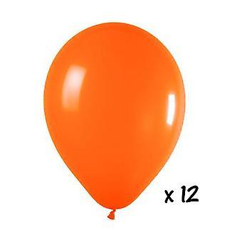 Ballon og ballon tilbehør 12 Orange balloner