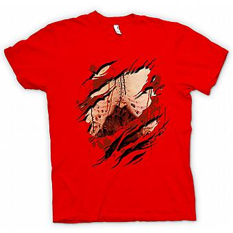 Kids T-shirt - Zombie Undead Gory Lungs Ripped Design