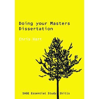 Haciendo su tesis de maestría por Chris Hart - libro 9780761942177