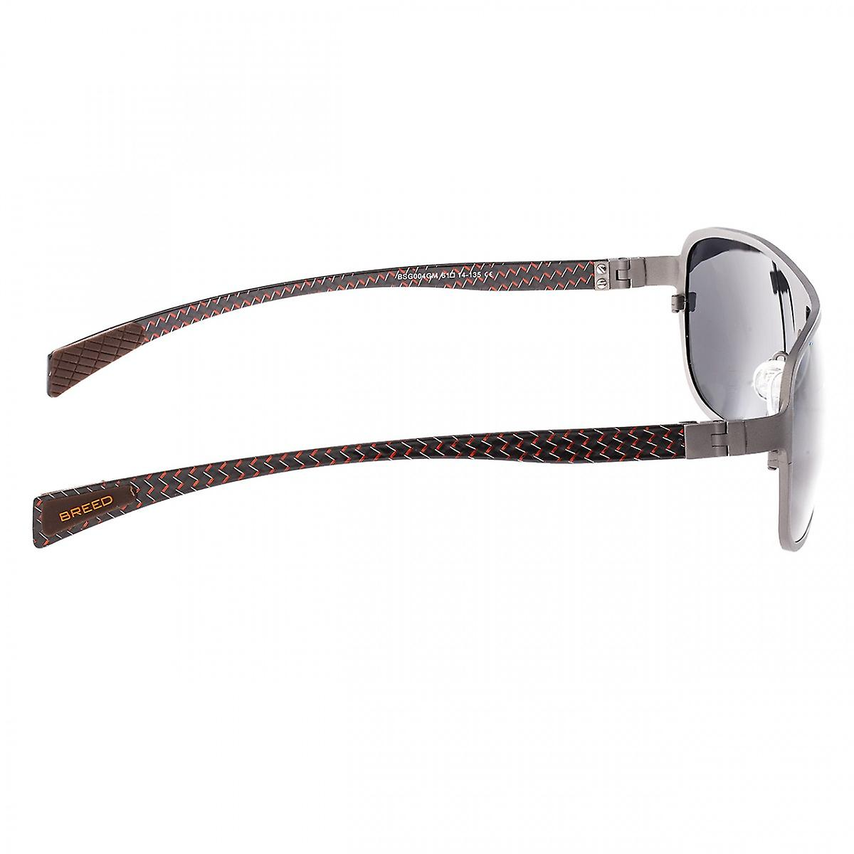 Breed Atmosphere Titanium and Carbon Fiber Sunglasses Silver//Silver