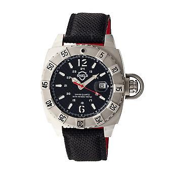 Shield Vujnovich Swiss Men's Diver Watch w/Date - Silver/Black