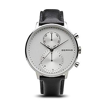 Bering watch chronograph quartz men's watch with leather 13242-404