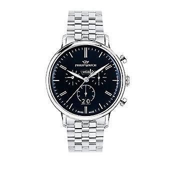 PHILIP WATCH watch chronograph quartz men with stainless steel strap R8273695003