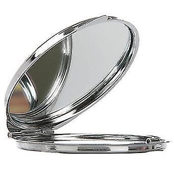 TECHNIC ronde metalen compacte spiegel