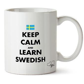 Hippowarehouse zachować spokój i dowiedzieć się, że szwedzki Wydrukowano Kubek Kubek ceramiczny 10 oz