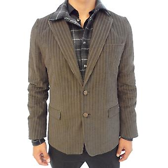 Dolce E Gabbana Ezbc006001 Men's Brown Cotton Blazer