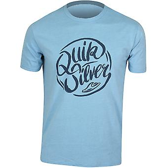 QUIKSILVER Mens t-shirt lungo il fiume-cielo blu/blu Navy