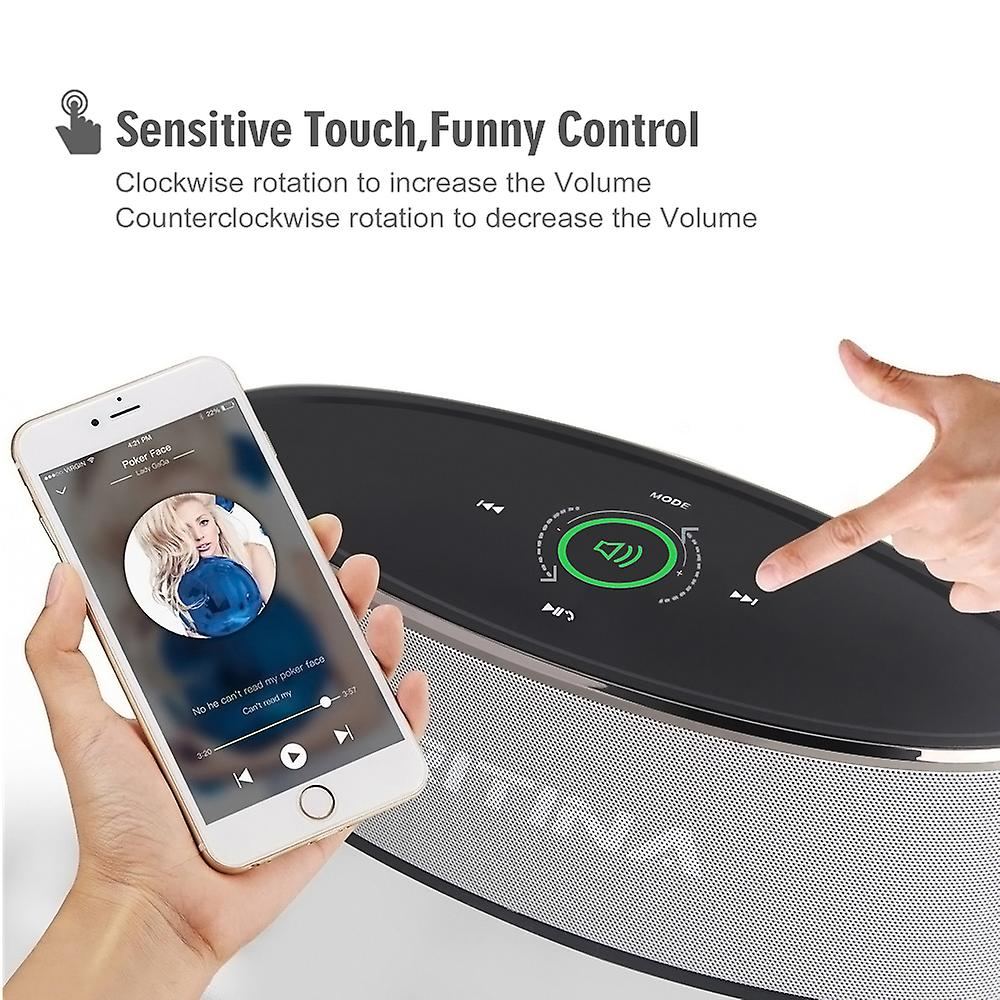 Tritina Wireless Speaker Stereo HD Sound, Touch Control with Fashion Light, Bluetooth Speaker Built-in Mic Handsfree Phone Calling, TF Card Slot & AUX Cable