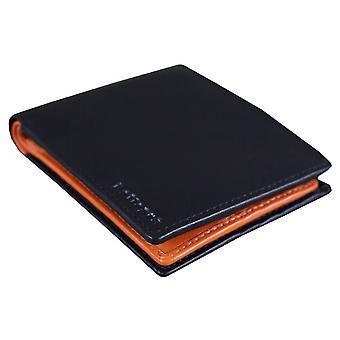 Rallegra Small Bifold Wallet - Black/Orange