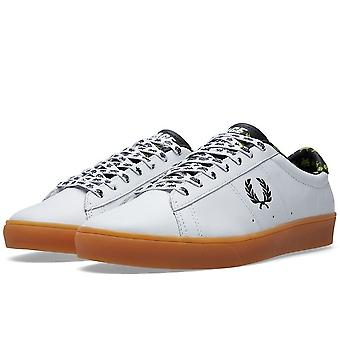 Fred Perry X Space Invaders mannen Spencer Leather Trainers - SB6008-100