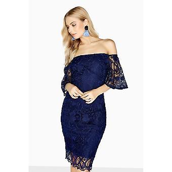 Paper Dolls Womens/Ladies Cambrais Off The Shoulder Lace Dress