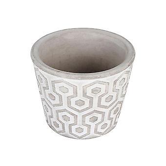 Concrete Pot 11 X 11 X 9 Cm Tapered Round Geometric