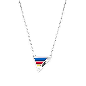 Collar colgante de diamantes Nascar en diseño de plata de ley por BIXLER