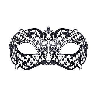 Bristol Novelty Unisex Adults Filigree Patterned Metal Mask