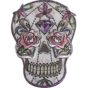 Patch - C&D - Skulls Pastel Flowers New Gifts p-4641