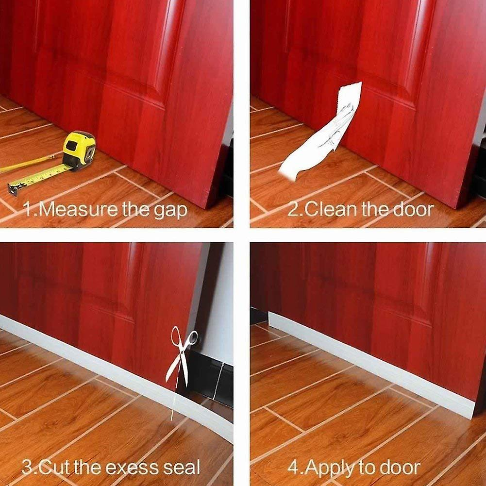 Adhesive Under Door Sweep Weather Soundproof Rubber Bottom Seal Strip Draft Stopper 39 Length X 2 Width 100cm X 5cm