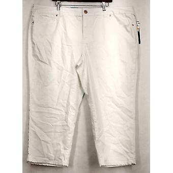 INC Plus Jeans24W سليم التكنولوجيا صالح اقتصاص الدنيم النساء البيض