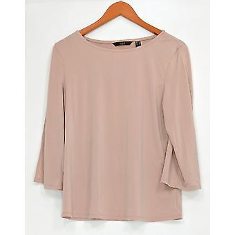G.I.L.I. got it love it Women's Top Jetsetter Knit 3/4 Sleeve Pink A306812