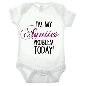 I'm my aunties problem short sleeve babygrow