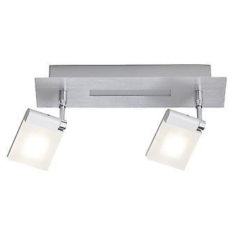 Briljante lamp Plaxico LED spot Bar 2flg ijzer/wit