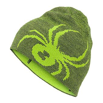 Spyder REVERSIBLE BUG Kinder Ski Mütze - lime green