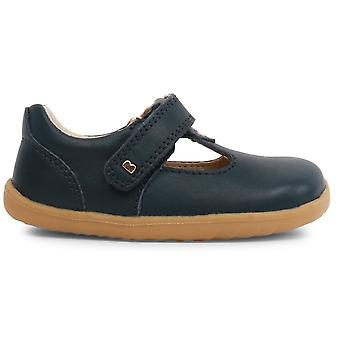 Bobux Step Up Girls Louise T-bar Shoes Navy