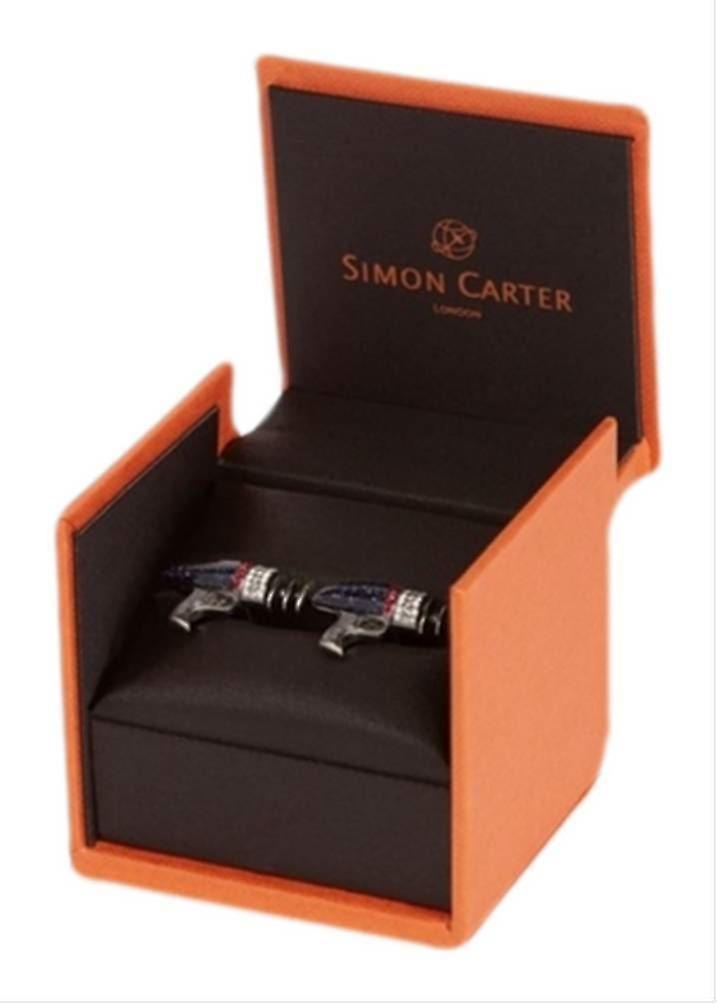 Simon Carter Outer Space Laser Gun Cufflinks - Dark Blue