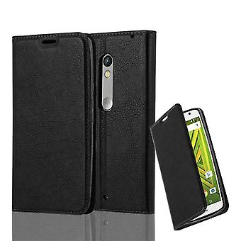 Cadorabo Case for Motorola MOTO X PLAY Case Cover - Phone Case with Magnetic Closure, Stand Function and Card Case Compartment – Case Cover Case Case Case Case Book Folding Style