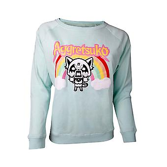 Aggretsuko Sweatshirt Rage Aggretsuko new Official Womens Green
