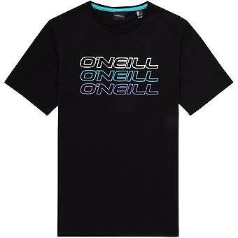 ONeill Triple Logo Short Sleeve T-Shirt in Black Out