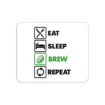 Eat Sleep Brew Repeat Mouse Mat