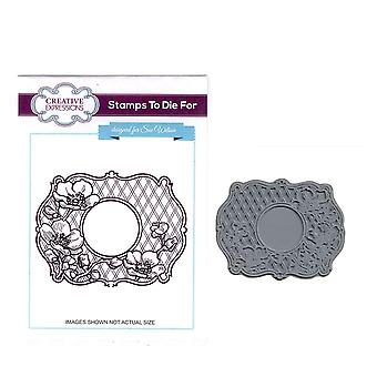 Creative Expressions Pre-Cut Rubber Stamp Sue Wilson UMS628 Passiflora