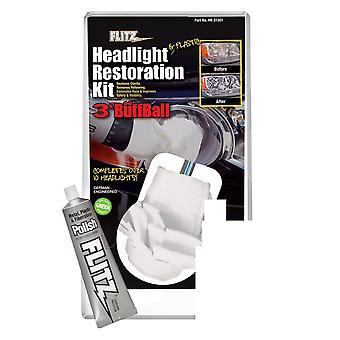 Flitz koplamp & kunststof restauratie kit, wasbaar/herbruikbare #HR31501