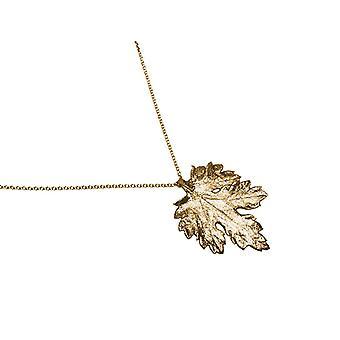 Crisântemo de folha de colar de gemshine natural em 925 prata, banhado a ouro ou rosa