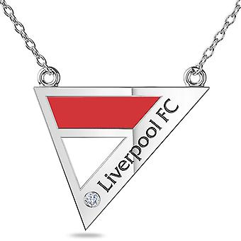 LiverPool Diamond Pendant Necklace In Sterling Silver Design by BIXLER