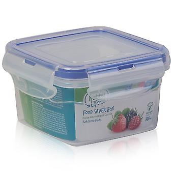 Hobby Life 300ml Square Airtight Plastic Food Container With Rubber Sealed Lid