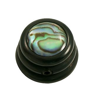 Q Parts Ringo Knob - Abalone Shell Cap - Natural / Black Base