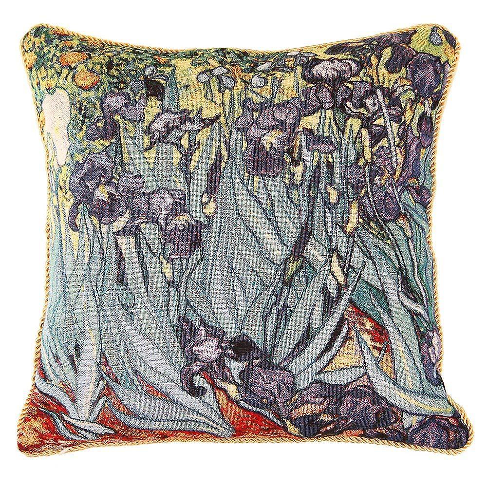 Van gogh iris cushion cover | floral art pillow case 18x18 inch | ccov-art-vangogh-2