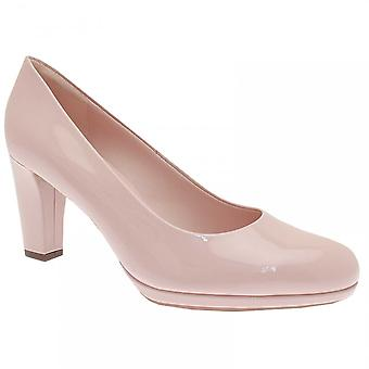 Peter Kaiser rosa patent plattform høy hæl domstol Shoe