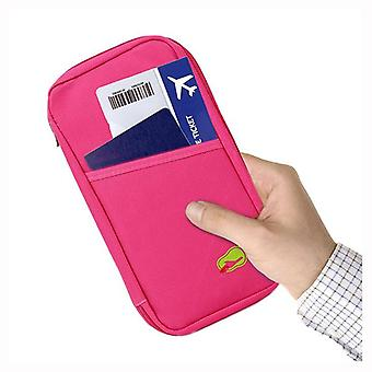 Passport and Travel Document Holder Pink