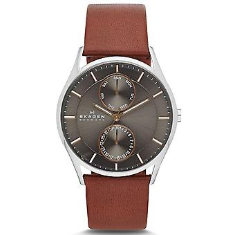 Skagen SKW6086 Mens Male Brown Leather 40MM Quartz Analog Chronograph Watch