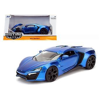 Lykan Hypersport Blue 1/24 Diecast Model Car par Jada